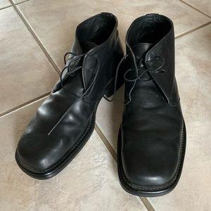Springfield Men's Leather Boots, Black, Sz 10.5